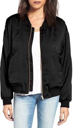 Women's Leith Satin Bomber Jacket $89 thestylecure.com
