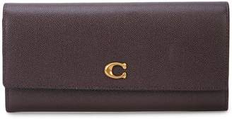 Coach grained envelope wallet