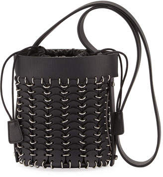 Paco Rabanne 1401 Chain-Link Mini Bucket Bag, Black