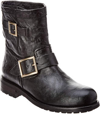 Jimmy Choo Youth Leather Biker Boot