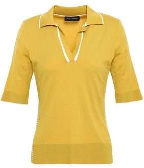 Piazza Sempione Striped Wool-blend Polo Shirt