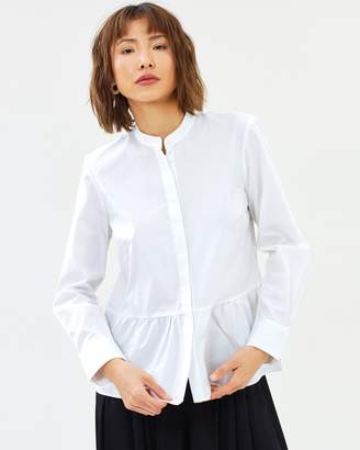 J.Crew Stretch Poplin Rum Blouse