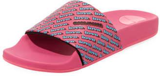Marc Jacobs Love Aqua Pool Slide Sandal