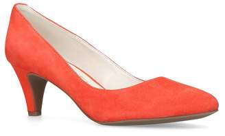 Anne Klein Red 'Rosalie' Mid Heel Court Shoes