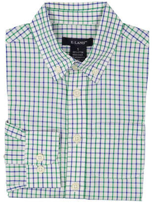 E-Land Boys' Tattersall Woven Shirt