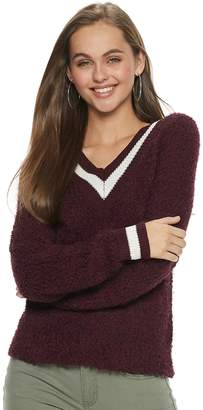So Juniors' SO Varsity Striped V-Neck Sweater