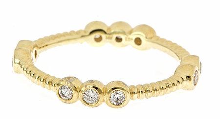 KC Designs Yellow Gold Diamond Stack Ring