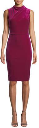 Black Halo Corrine Sleeveless Velvet Dress