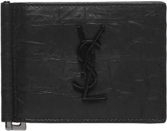 Saint Laurent Monogram Bill Clip Wallet