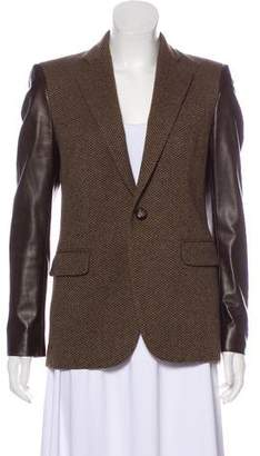 Ralph Lauren Black Label Wool & Leather Blazer