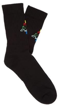 Marcelo Burlon County of Milan X Kappa Cotton Blend Socks - Mens - Black