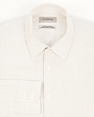 Le Château Stripe Cotton Slim Fit Shirt