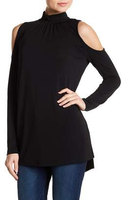 Kensie Cold Shoulder Knit Tunic