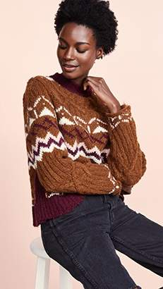See by Chloe Printed Pullover Sweater
