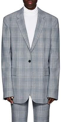 Calvin Klein Women's Plaid Wool One-Button Blazer