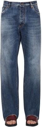 Dolce & Gabbana Loose Cotton Denim Trousers