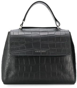Orciani crocodile effect tote bag
