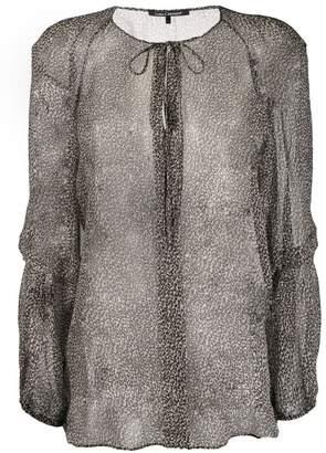 acbd416ddb8e Luisa Cerano sheer leopard print blouse