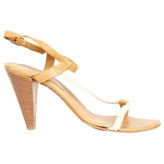 Les Prairies de Paris Beige Leather Sandals