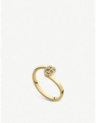 Gucci GG 18ct gold and diamond ring