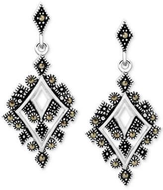 Macy's Marcasite Geometric Drop Earrings in Fine Silver-Plate
