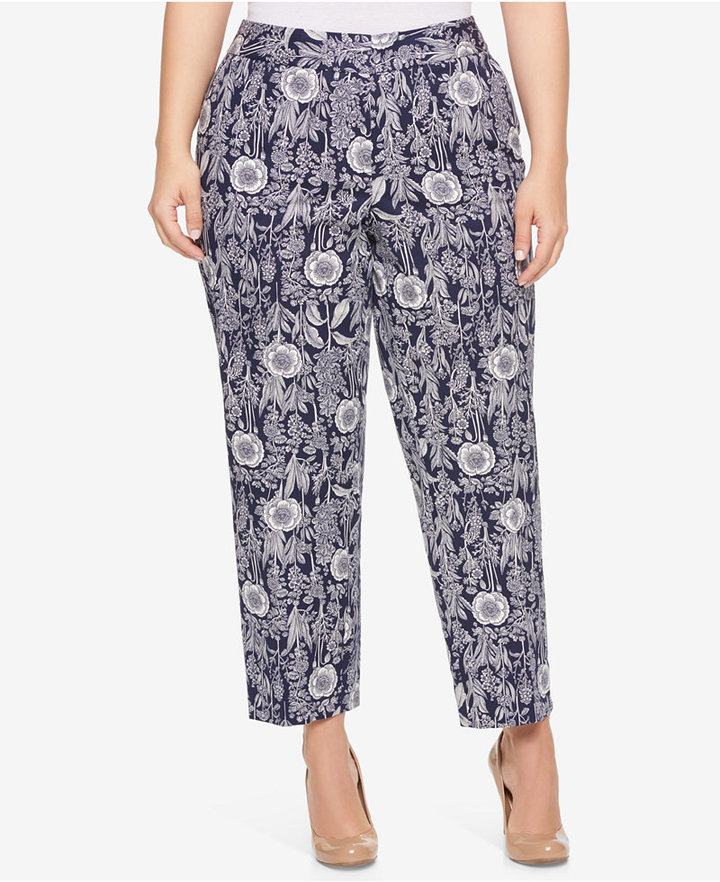 Tommy Hilfiger Tommy Hilfiger Plus Size Printed Cropped Pants