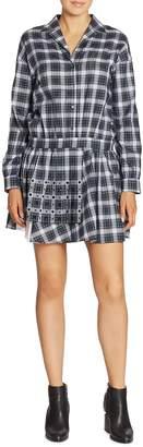 No.21 NO. 21 Women's Studded Plaid Shirtdress