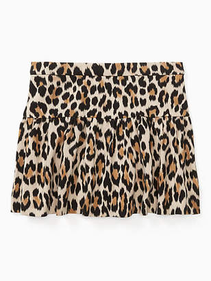 Kate Spade Toddlers classic leopard-print skirt
