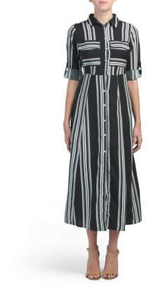 Juniors Striped Maxi Dress
