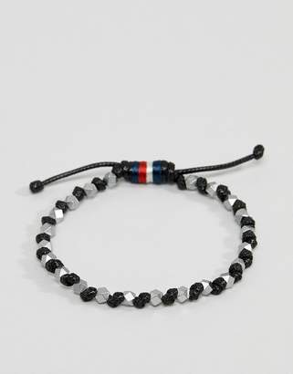 Tommy Hilfiger beaded bracelet in black