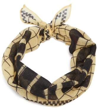 Colville - Hey Colville Wool Scarf - Womens - Yellow Multi