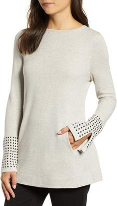 Nic+Zoe Studded Cuff Top