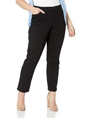 Gloria Vanderbilt Women's Plus Size Rail Straight Leg Jean, W