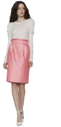 Alice + Olivia Toni Structured Mid Length Skirt