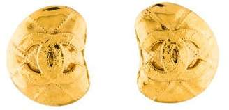 Chanel CC Quilted Clip-On Earrings