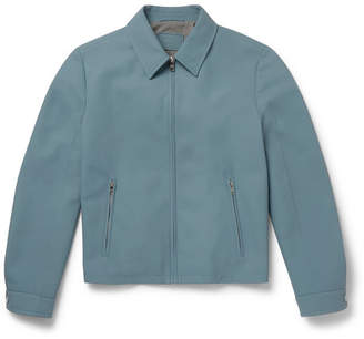 Prada Matte-Leather Blouson Jacket