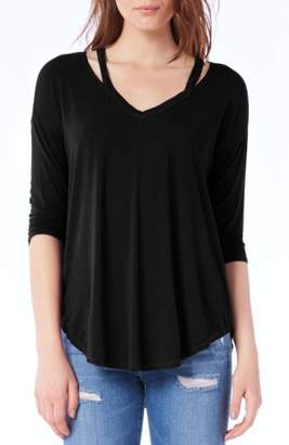 Michael Stars Shoulder Cutout Jersey Top