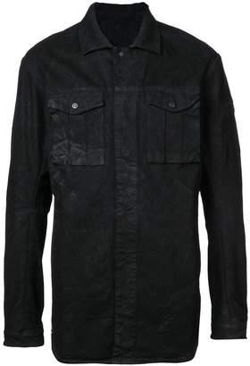 11 By Boris Bidjan Saberi creased button down shirt