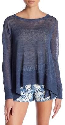 Alice + Olivia Moya Oversized Linen Blend Sweater