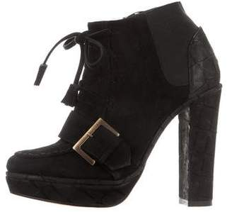 Opening Ceremony Suede Platform Ankle Boots