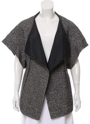 Calvin Klein Collection Short Sleeve Open Front Cardigan