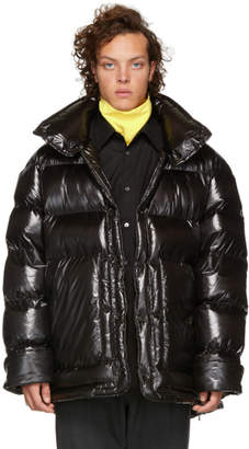 Wooyoungmi Black Down Shiny Puffer Jacket