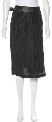 Rozae Nichols Leather-Accented Skirt