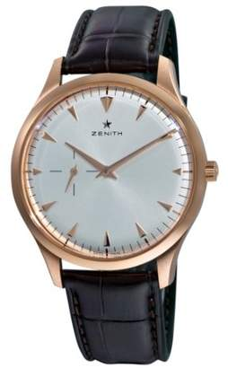 Zenith Men's 'Elite' Swiss Automatic Gold and Leather Dress Watch