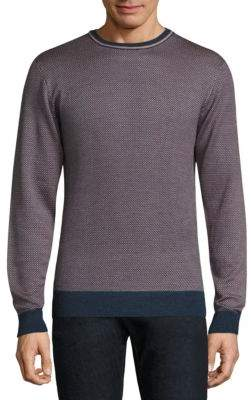 Saks Fifth Avenue COLLECTION Jacquard Wool & Silk Sweater