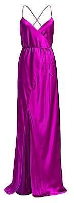 Mason by Michelle Mason Women's Strappy Silk Wrap Gown