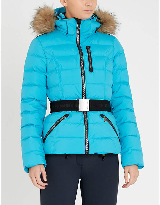 GOLDBERGH Vita faux-fur and shell-down jacket