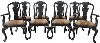 One Kings Lane Vintage Queen Anne Style Dining Chair - Set of 8