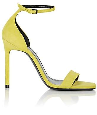 Saint Laurent Women's Amber Suede Sandals - Yellow