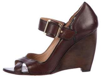 HUGO BOSS Boss by Leather Crossover Wedges